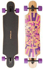 Longboard Design des Apollo Soul Bamboo Flex 3 Rollen pink