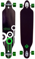 Atom Drop Through Longboard Design Rollen grün