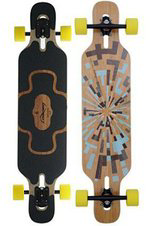 Loaded Tan Tien Bamboo Longboard Design gelbe Rollen