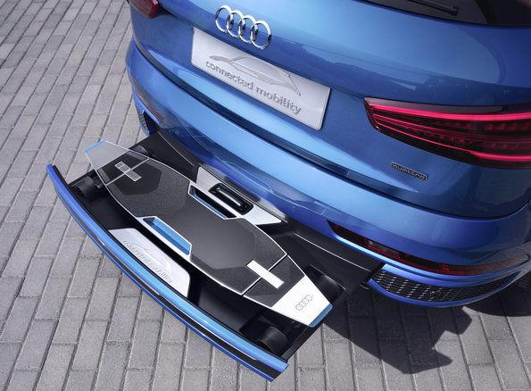 Elektro Longboard Audi Stossstange