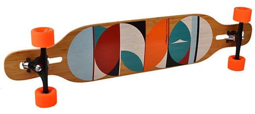 Loaded Dervish Sama Longboard Deck mit Kreisen