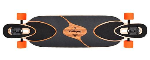 Longboard Loaded Dervish Sama Deck mit schwarzem Griptape