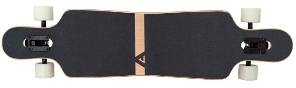 Apollo Nebula Longboard Deck oben mit Griptape